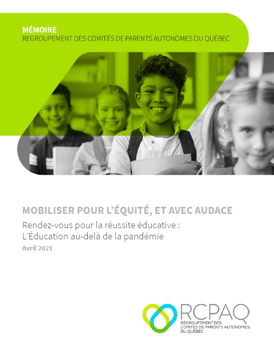 MÉMOIRE: MOBILISER POUR L'ÉQUITÉ, ET AVEC AUDACE